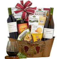 Dense Wine N Assortments Gift Basket<br>