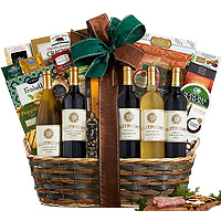 Excellent Happy Time Gourmet n Wine Gift Basket