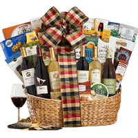 Versatile Cozy Winter Gourmet Gift Basket<br>