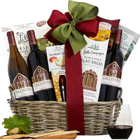 Intense Gift Hamper of Wine with Gourmet Assortments<br>