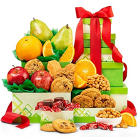 Gorgeous Collection of Fruit N Gourmet Gift Tower<br>