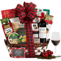 Kiarna Vineyards Cabernet Seasons Greetings Gift Basket