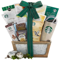 Starbucks Coffee and Tazo Tea Holiday Collection Gift Basket