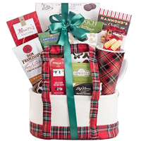 Coffee, Tea & Cocoa Holiday Tote Gift Basket