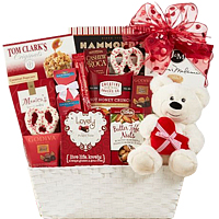 Chocolates and Teddy Bear Collection Gift Basket