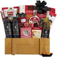 Rich Wine N Gourmet Gift Basket Hamper