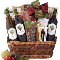 Cute The Ample Wine N Gourmet Gift Basket