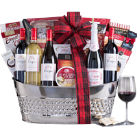Executive Choice Gourmet Basket with Wine