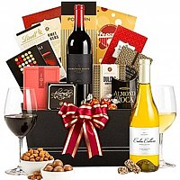 Artistic Wine Greetings Gift Basket