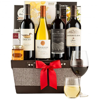 Smooth-Textured Premium Office Share Wine Gift Set