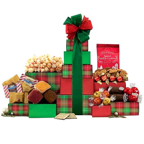 Heavenly Just for Fun Christmas Gift Tower