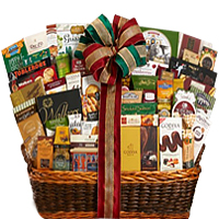 Lovable All About Christmas Wishes Gift Basket