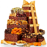 Delicious Merry X-mas Chocolate Gift Tower