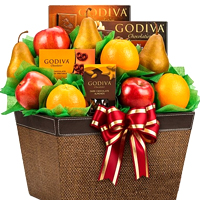 Exciting Holiday Treats Hamper of Fruits and Chocolates
