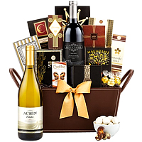Seasonal Cheer Gourmet Gift hamper with Wine