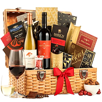 Christmas Delight Wine N Savory Gift Hamper