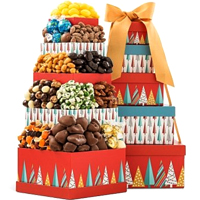 Festive Greeting Chocolate Gift Tower