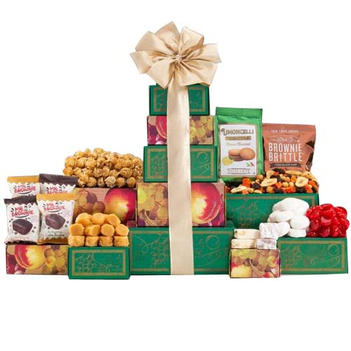 Gratifying Holiday Treat Christmas Gift Tower