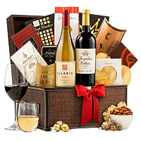 Christmas Wishes Gourmet Hamper with Wine