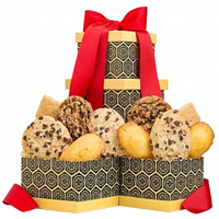 Christmas Celebration Duo Gift Tower of Assorted Cookies