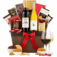 Entertaining Wine N Chocolate Christmas Gift Hamper