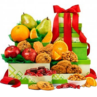 Seasons Fresh Fruits Gift Tower with Chocolate