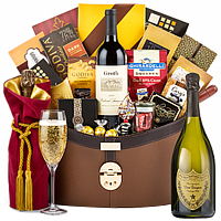 Go Lucky This Christmas Gift Hamper with Wine