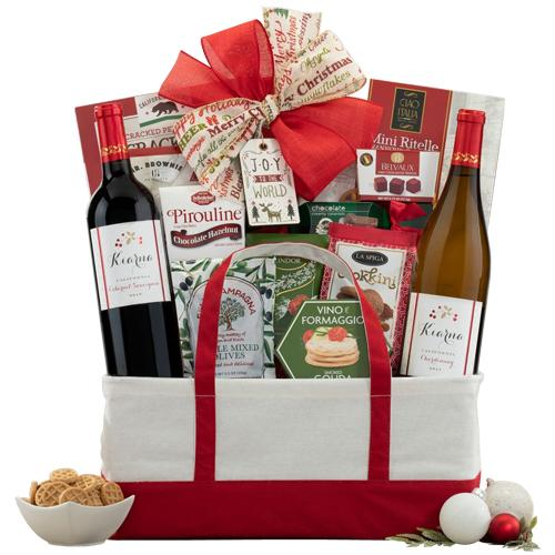 Christmas Wishes with Personalized Red Wine