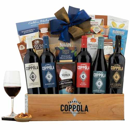 Glorious Happy Holiday Wine with Gift Hamper