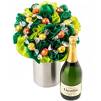 Sensational Bouquet of Chocolates with Sparkling Wine