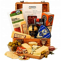 Christmas Gift Basket of Charcuterie and Cheese Assortments