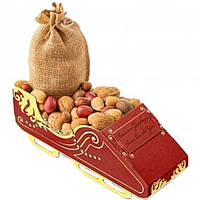 Crispy X-mas Gift of Tasty Nuts with Nutcracker