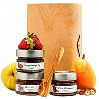 Unique Collection Wooden Gift Box with Fruit Pate