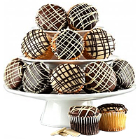Festive Gift Hamper of 1 Dozen Chocolate Covered Cupcakes