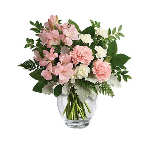 Delicate Valentine Gift of Soft Color Mixed Floral Bouquet