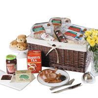 Elegant Basket Full of Sausages N Pudings