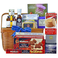 Bewitching Basket Stuffed with Delicious Delicacies