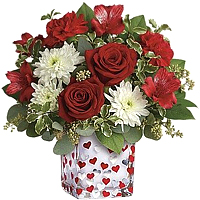 Breathtaking Valentine Collection of Red N White Blooms