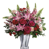 Creative Arrangement of Mixed Flowers for V-Day