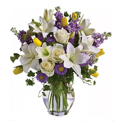 Attention-Getting Assorted Floral Bouquet