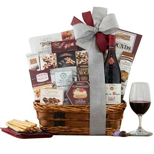 Smile N Cheer Wine Gift Box for Christmas