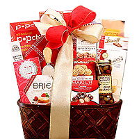 Gourmet Cheese and Crackers Gift Basket