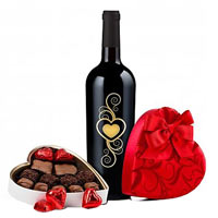 Valentines Day Wine and Chocolates