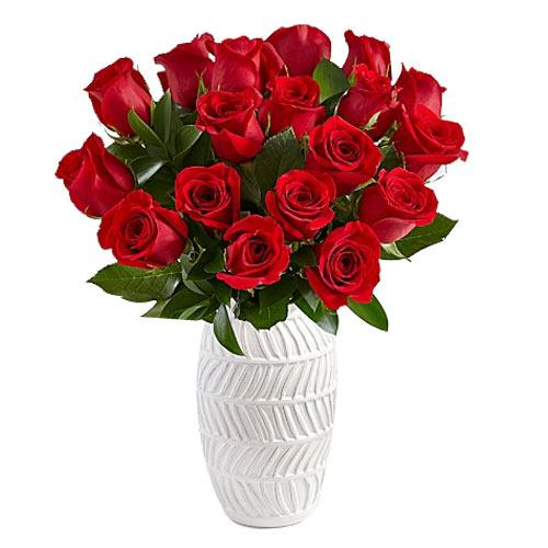 Fresh N Fashionable 18 Long Stemmed Red Roses