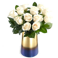Gorgeous Long Stem White Roses