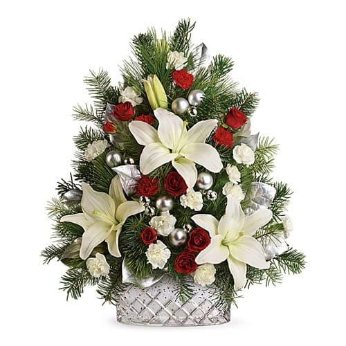 Expressive Best Wishes for Christmas Floral Arrangement