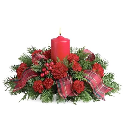 Fashionable Floral Centerpiece for Christmas Celebration