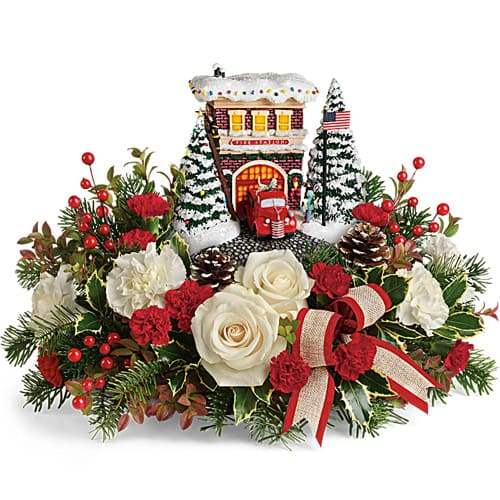 Charming Hearty Wishes Christmas Flower Arrangement