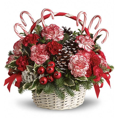 Treasured For The One You Care Flower Basket