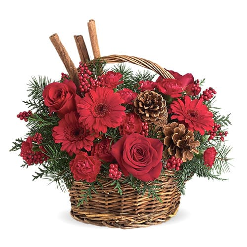 Blushing Make it Merry Christmas Floral Arrangements